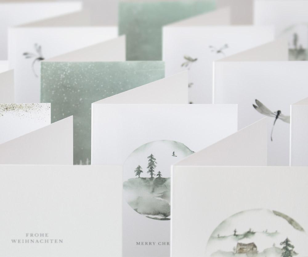 Weihnachtskarten, Letterist, Grußkarten-Shop, Fineart Papers
